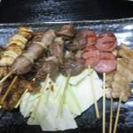 居酒屋「大漁」 - 串盛り