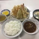 天ぷら定食ふじしま - 海老天付 てんぷら定食