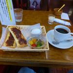 あまテラスカフェ - あまブレンドコーヒーとモーニングサービス
