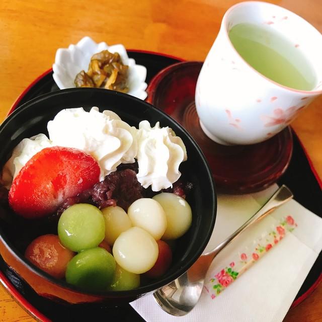茶房 菊泉 - クリームぜんざい