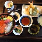 73233425 - 特上海鮮丼・天ぷら膳1,500円