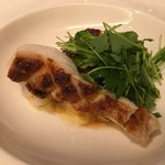 ミチノ・ル・トゥールビヨン - 真魚鰹とサザエのソテー サザエの肝とコーヒーのアイヨリ