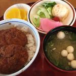 敦賀ヨーロッパ軒 - ミニパリ丼セット