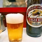 赤萬餃子 - ビール