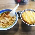 いろは食堂 - 半中華+カツ丼