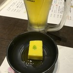 矗々家 - つきだし(南瓜豆腐)