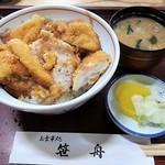 笹舟 - かしわカツ丼 650円
