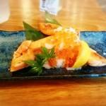 日本酒原価酒蔵 - どっさりいくらのトロ鮭ハラス焼き