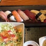 旬彩創和 ぜんてい - 寿司とラーメンセットの握り かなりいいね