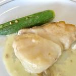 73250721 - 鱈のグリル アサリのクリームソース掛け【料理】