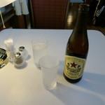 トレインレストラン日本食堂 - 瓶ビール、サッポロ