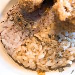 農カフェ hakari - 玄米と雑穀米のハーフ&ハーフ