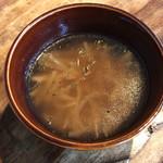 農カフェ hakari - えのきと切り干し大根のスープ