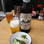 ときわ食堂 - 瓶ビール(大) 580円