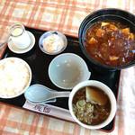 73265145 - 赤麻婆豆腐定食 税込1,000円