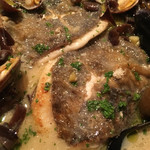 タベルナクアーレ - スープがたっぷり染み込んだ、アクアパッツァでした。