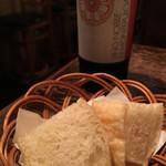 タベルナクアーレ - お店オリジナルのピザ生地を使ったパン。美味しい!