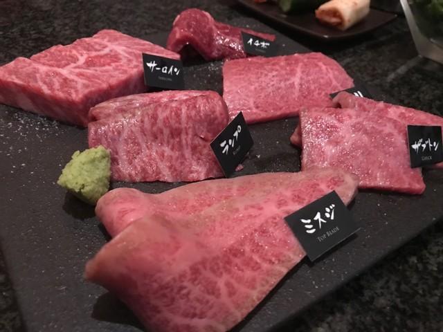 炭火焼肉 An - プレミアコース(もとぶ牛一頭盛り)