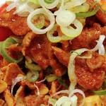 73274370 - 半蒙古丼+冷やし味噌のお肉+ネギ