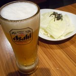 73275383 - 生ビール&お通し