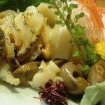 弥生 - 料理写真:ばい貝の刺身