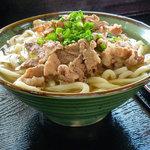 虎龍 - うどん 虎龍(肉うどん 大)