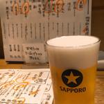 日本酒酒場 福島スイッチ - ビール小もあるよん\(^o^)/