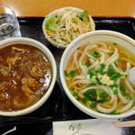 手打ちうどん 丸亀 - 料理写真:うどん屋さんのカレー丼セット