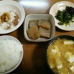 永源寺 ふるさと市場 - 蒟蒻をメインにした我家の朝食