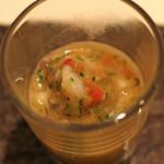 カンテサンス - 蛸トトマトの冷たいスープ