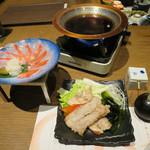 73288141 - 地きんめ鯛しゃぶしゃぶ/三浦地野菜の鍋