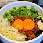 てっぺん - 料理写真:台湾まぜそば卵黄W