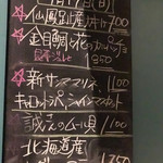 富士屋本店 - 壁の黒板メニュー