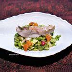 トムクリオーザ - 蒸した甘鯛、 細かく切ったお野菜と