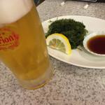 ステーキハウス88 - ビールに海ぶどう