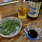 葵屋 - 海ぶどうとオリオンビール