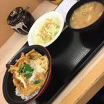 かつや 本八幡店 - 朝のミニカツ丼セット(^∇^)