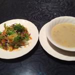 73296065 - サラダとスープ