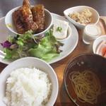 kitchen soya - 厚揚げの豚バラ肉巻きセット ¥930