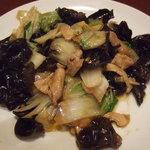 西安刀削麺 - 料理写真:豚肉と木くらげの炒め