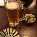 六本松ごえん - ビールとお通し
