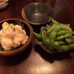 73300976 - ポテサラと枝豆