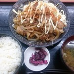 73302834 - 生姜焼き定食750円