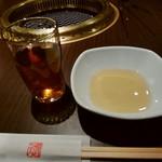 天壇  - 黄金色のタレを注いでセッティング