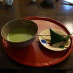 喫茶去 - 御抹茶(麩万頭付き)