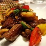 和牛肉の黒胡椒炒め