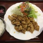食事処 葵 - 肉生姜焼き定食