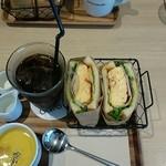 サーティーナインカフェ - ふわふわ卵のサンドイッチセット