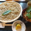 Sobadokorotachibana - 料理写真:ざるそばとミニかき揚げ丼のセット(1250円)