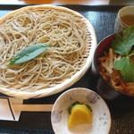 そば処 橘 - 料理写真:ざるそばとミニかき揚げ丼のセット(1250円)